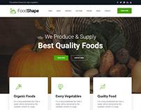 Foodshape Restaurant HTML5 Web Template