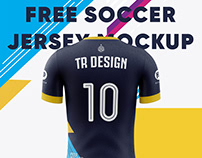 Free Soccer Jersey Mockup(Back View)