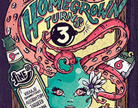 HOMEGROWN TURNS 3 - POSTER DESIGN