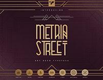 Metria Street Art Deco font   Free Download
