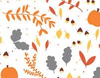 Autumn pattern - #DrawOnMonday