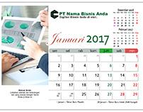 Kalender Meja 2017 Desain Bisnis Gratis Download