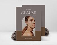 CLAUSE Editorial Fashion Lookbook
