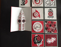 Papercut Clock Design