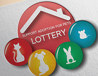 Support Adoption For Pets Lottery Logo Design