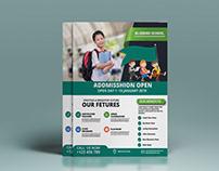 school addmission flyer