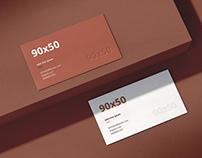 Business Card Mockup Scenes 90x50