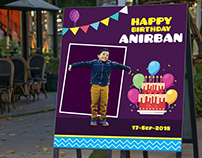Creative Birthday Event Banner
