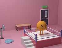 boxing fight blender 3d