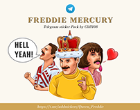 Freddie Mercury telegram stickers