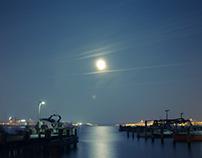 Nightshots near Trave at Lübeck