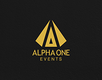 Brand Identity - Alpha One Events, Dubai