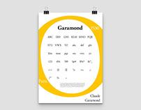 """Affiche Typographique """"Garamond"""""""