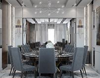 Luxury Contemporary Dining room in KSA