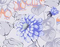 Flower Croquis Gouache Painting