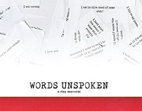 Words Unspoken - A Tiny Museum