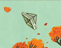 Der Herbst steht auf der Leiter / children's book