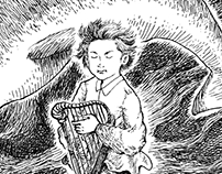 little bard-chapter book illustration