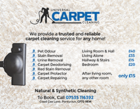 Universal Carpet Cleaning Pricing Flyer