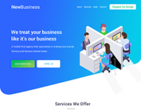 New Business Web UI Design