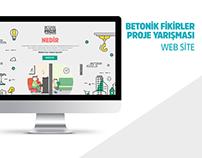 'Betonik Fikirler' Project Competition Web Site