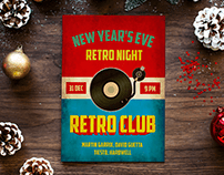 """Retro Night"" event poster desing"