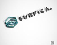 Surfica Logo Design.