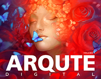 Design of the printed art-book 'ARQUTE DIGITAL 1'