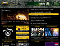 Radio Tangra Mega Rock website design