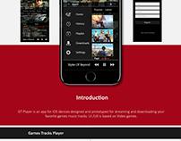 UI/UX Design (GT Player IOS App v.1.0)