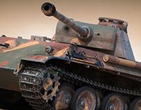 Panther Tank WW2 3D model