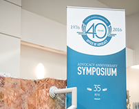 40th Anniversary Symposium - Logo, Conference Signage