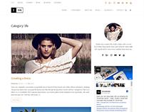 Blog Category Page - Ink WordPress Theme
