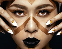 Tribal Beauty - collaboration with Academy of Design HK