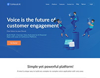 Landing Page for Voice App Website