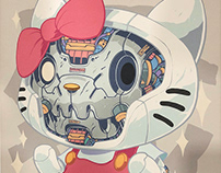 MECHASOUL HELLO KITTY + HELLO DANIEL FINE ART PRINT
