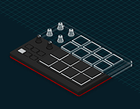Akai MPD 218 animated illustration