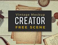 Free Vintage Mockup Scene