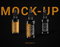PSD Mockup Liquid Bottle Label