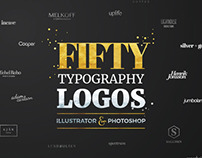 Fifty Typography Logos Bundle by Worn Out Media Co