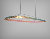 Iridescent glass lampshade