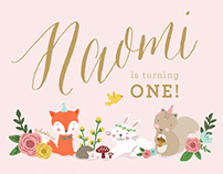 NAOMI's First Birthday Illustrations
