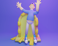 GomGom Man 3D Character
