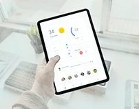 Home Monitoring Dashboard UI Design