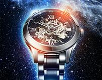 Deep Space Skeleton Watch