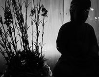 Little Buddha with flowers
