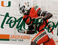 2016 Hurricanes Football In-game Animated GIFs