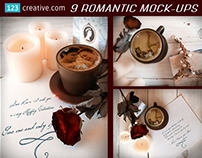 Vintage Wedding, Romantic, Valentine's day Mock-ups