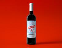 Can' Leandro. Wine label design