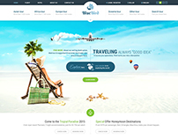 Travel & Tours PSD template
